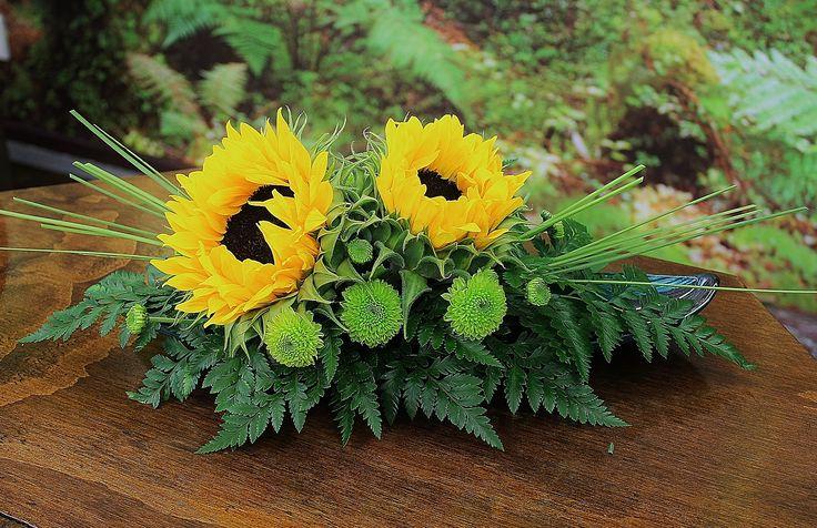 Sunflower Arrangement Wedding Pinterest Ideas