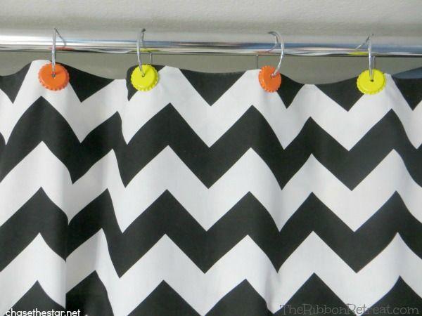 No Sew Shower Curtain Valance - The Ribbon Retreat Blog