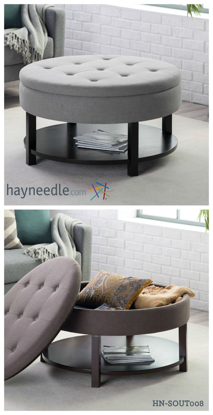 Best Table Storage Ideas On Pinterest Childrens Play Table - Coffee table upholstered round ottoman coffee table uk round coffee