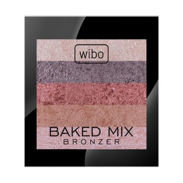 Baked Mix Bronzer  Wypiekany puder brązujący, skomponowany z idealnie dobranych do siebie odcieni. Jego formuła zapewnia komfortową aplikację i naturalny odcień brązu po zmiksowaniu pędzlem. Niezbędny przy modelowaniu twarzy, dzięki umiejętnemu wykonaniu makijażu możesz wyszczuplić rysy twarzy lub nadać im pożądany kształt.