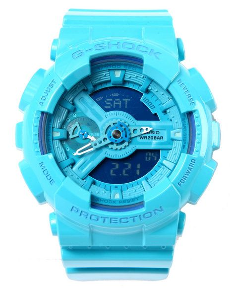 G-Shock by Casio - Glossy Aqua Blue GMAS-110 - G Shock S Series watch