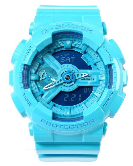 G-Shock by Casio - Glossy Aqua Blue GMAS-110 - G Shock S Series watch