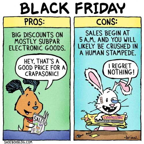 Image result for image of sarcastic display of Black Friday