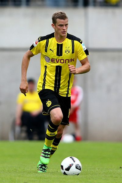Sven Bender of Dortmund runs with the ball during the friendly match between Wuppertaler SV and Borussia Dortmund at Stadion Zoo on July 9, 2016 in Wuppertal, Germany.