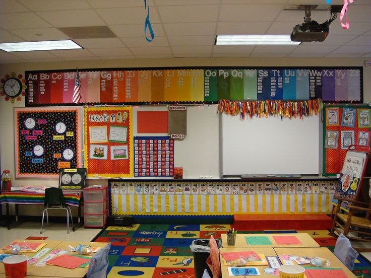 Classroom Design Paper : Love the colored word wall at top of and
