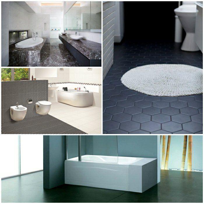die besten 25 schwarzen fliesen badezimmer ideen auf pinterest schwarze u bahn fliesen. Black Bedroom Furniture Sets. Home Design Ideas