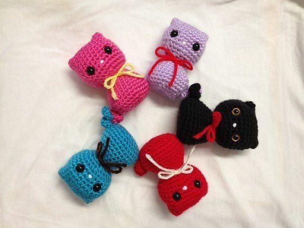 Kitten Keychain Crochet Homemade Cat Keychain Handmade