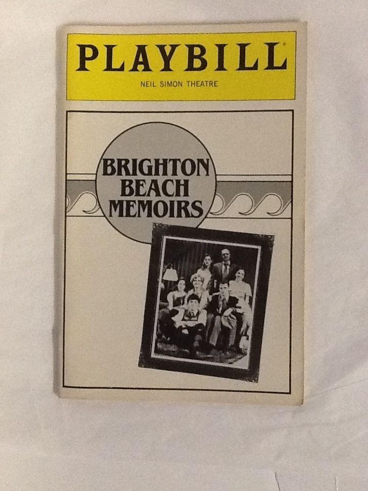 Brighton Beach Memoirs Matthew Broderick Playbill Joyce Van Patten 1983 Franz