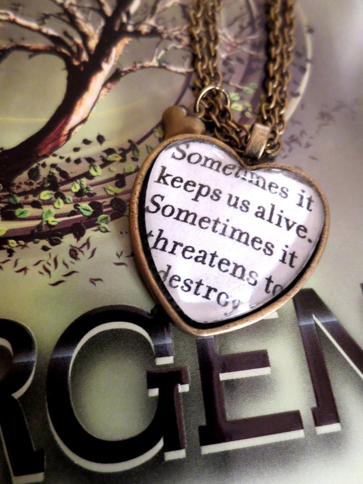 I want this so hard!!!   Insurgent Quote by Veronica Roth Antiqued Bronze Book Page Necklace.  via Etsy.
