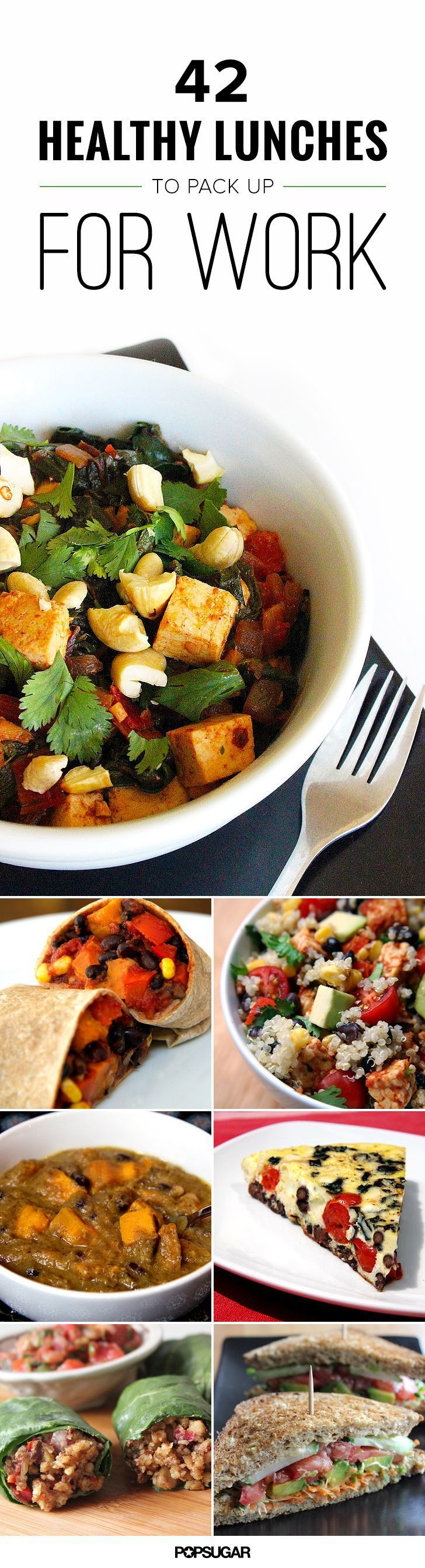 Regardless of your dietary limitations and preferences, (at least!) one of these healthy recipes will fit the bill and make its way into your lunchtime rotation.