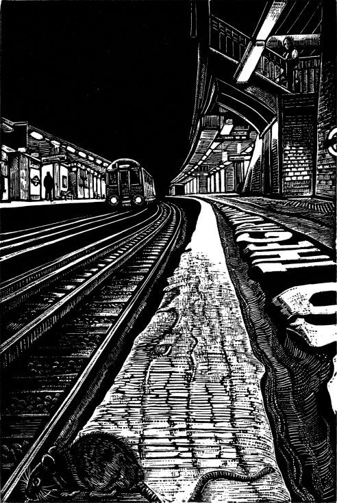 ARTFINDER: View Subterranea 4 by Rebecca Coleman - This wood engraving continues a series of works based on my fascination with the Underground. In my artwork I love to explore the dynamics of light and dark....