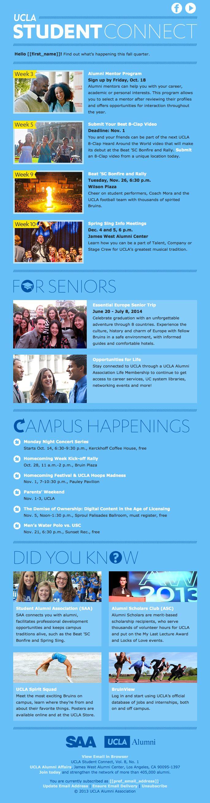 UCLA Alumni email newsletter