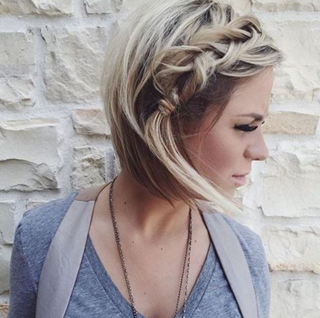 Surprising 1000 Ideas About Short Braided Hairstyles On Pinterest Short Hairstyles For Women Draintrainus