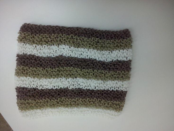 Ένα εύκολο και όμορφο ριγέ cowl σε πλέξη μους της Ρ. Σεμινάριο πλέξιμο με Βελόνες Α΄ Κύκλος.