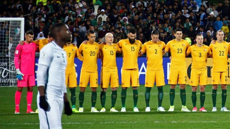 Image copyright                  Reuters             Image caption                                      The Saudi team did not join Australia in linking arms                               Saudi football chiefs have apologised after their national team elected not to take part...
