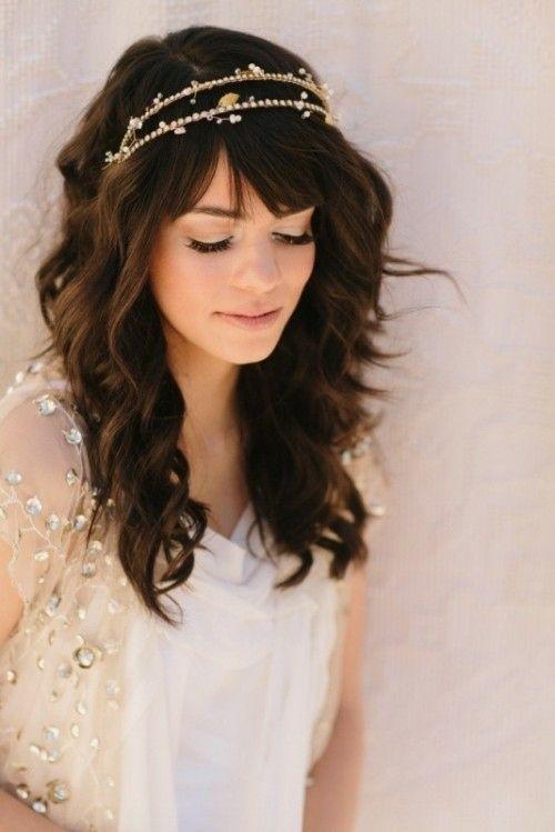Best 25+ Wedding hair bangs ideas on Pinterest   Wedding ...