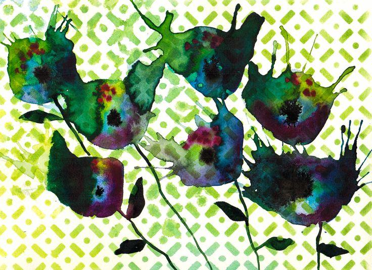 """""""Splatter II""""  Visit my Etsy shop: www.sweetpeafineart.etsy.com View my artist website: www.sweetpeafineart.com"""
