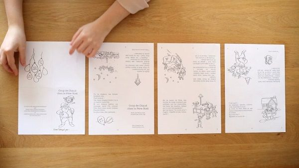 Une histoire de Noël à télécharger gratuitement, à fabriquer et à colorier. Ecrite par Fanny Joly et illustrée par Alice Jug.