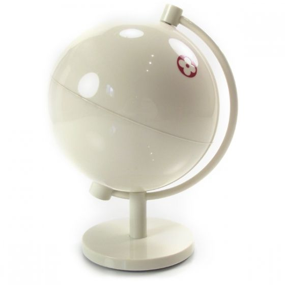 This is an authentic LOUIS VUITTON Fleur Desk Globe.   The innovative design and exceptional quality of this Louis Vuitton desk globe make it ideal for the home or office.