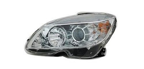 2008 Mercedes C350 Left Driver Side Halogen Head Light Assembly With Clear Ring Around Hi-Beam Reflector Early Production To 09/02/2007 Mb2502162
