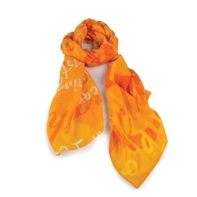 Strength, Gold Scarf (Philippians 4:13)