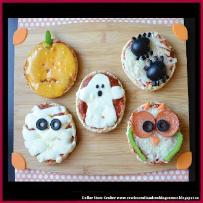 Dollar Store Crafter: Easy Halloween Mini Pizzas