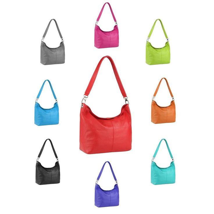 Details about Italy Ladies Real Leather Handbag Shopper Shoulder Bag Leather Bag Hobo Bag