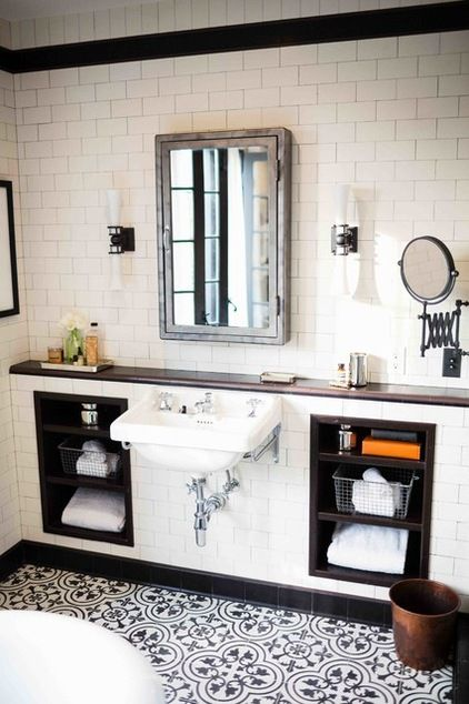 Bath of the Week: Glass and Steel with a Mediterranean Twist | traditional bathroom by Deirdre Doherty Interiors | Houzz