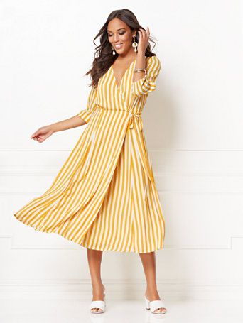 9fc879e7272c Eva Mendes Collection, Maxi Wrap Dress, Summer Outfits, Summer Wear, Summer  Outfit