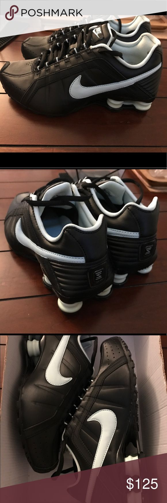 sneakers for cheap 6cdb2 08fa7 Nike Shox Junior Black Teal Mint 454339 007 Built to last, the stylish  upper features ...