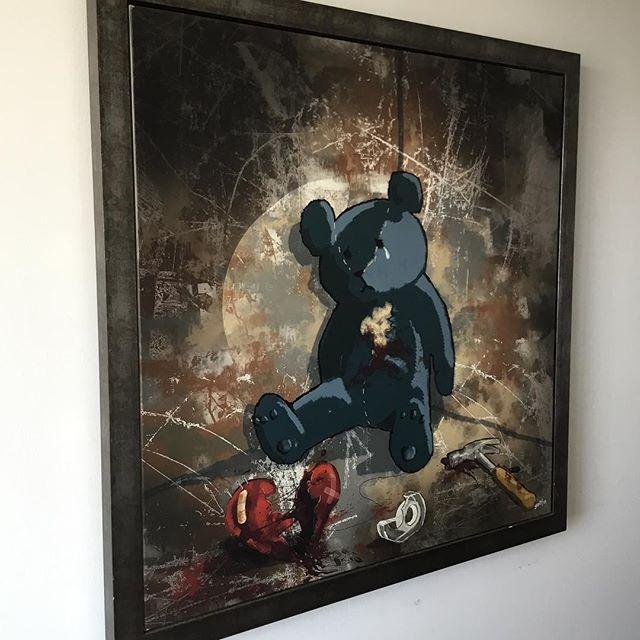 #broken #brokenheart #toys #teddybear #blue #tools #hammer #nails #screw #love #heart #bandaid #sad #tears #art #artist #tape #fix #streetart #fineart #painting #blood #contemporaryart