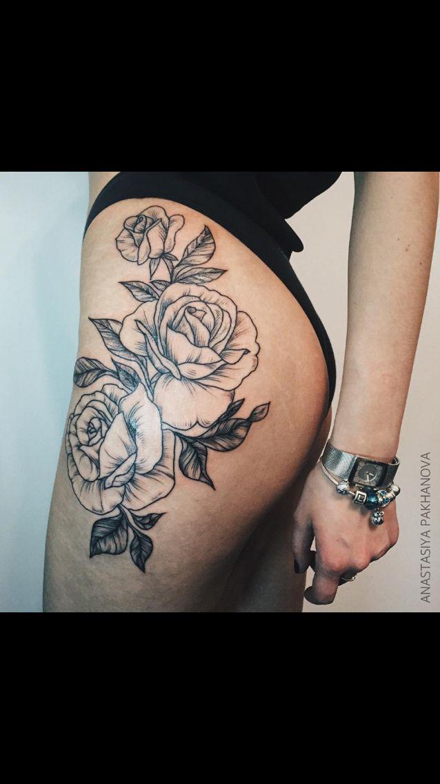 Flower Hip And Thigh Tattoos | www.pixshark.com - Images ...