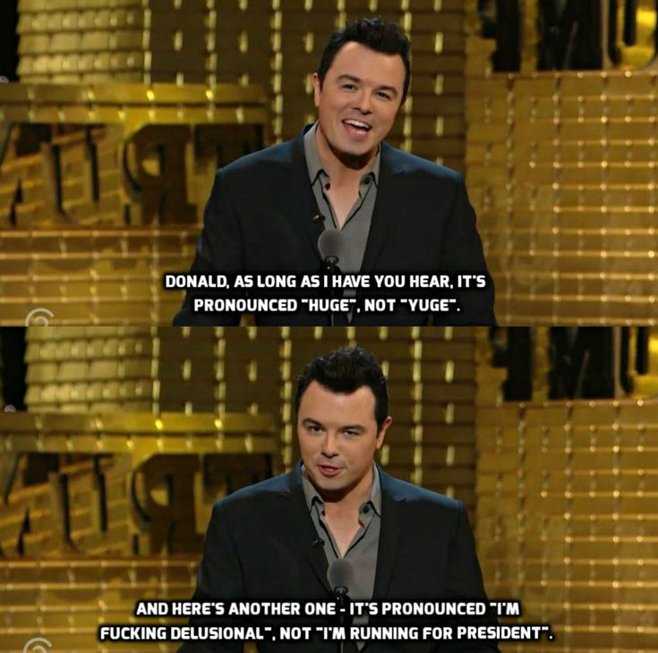 Seth MacFarlane's roast of Donald Trump !!Hugs and Pins