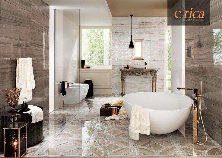 Rivestimenti Marmi Imperiali Impronta Ceramiche  www.ericacasa.it #ceramiche #rivestimenti #bathroom #bagno