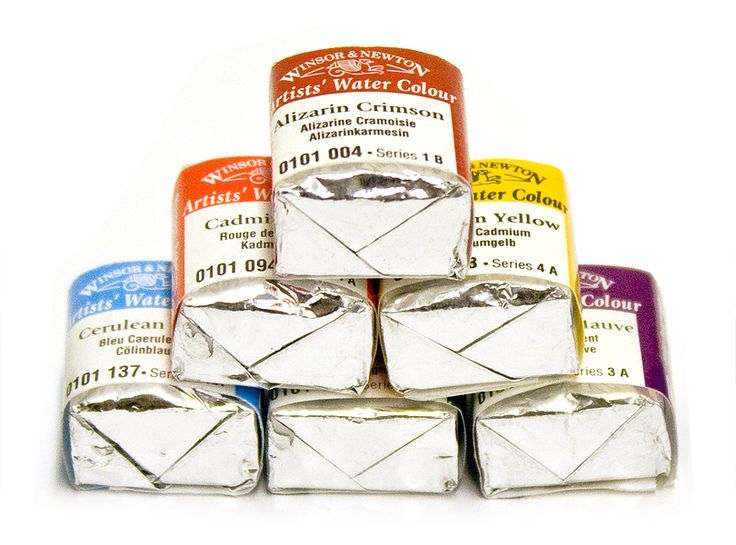 Winsor & Newton Artists' Watercolour Half Pans. A big punch of colour in a wee pan instead of a tube! #winsornewton #watercolour #paint #artsupplies