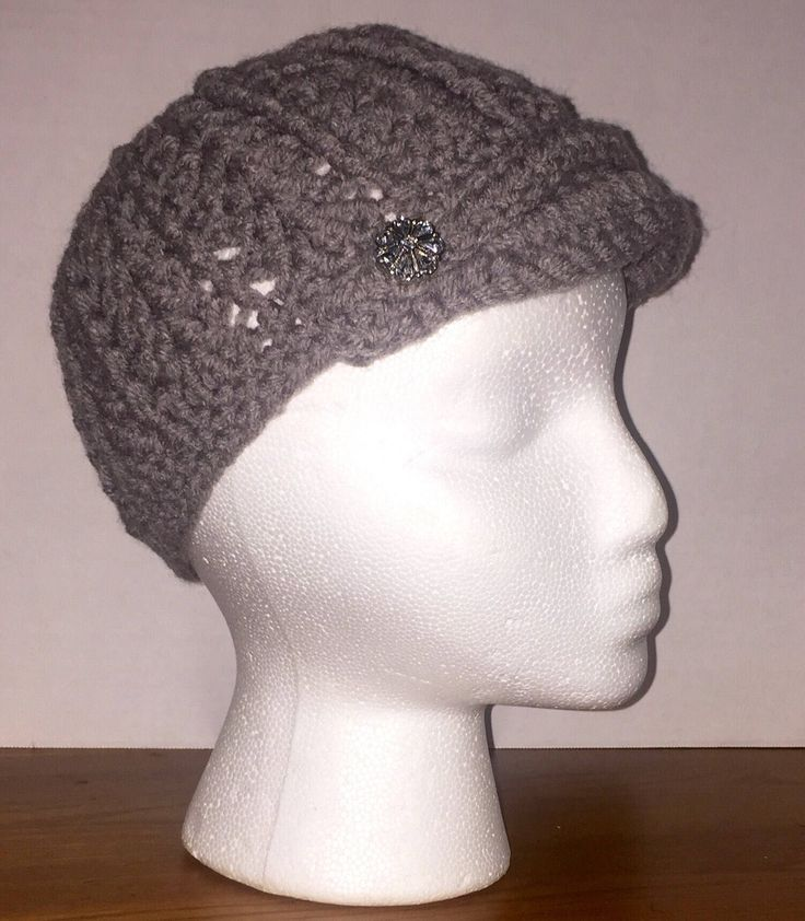 A personal favorite from my Etsy shop https://www.etsy.com/ca/listing/570786901/womens-newsboy-cap-with-brim-crocheted