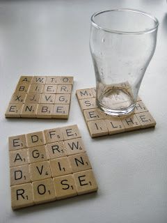 Eigenwijzz: Scrabble onderzetters DIY