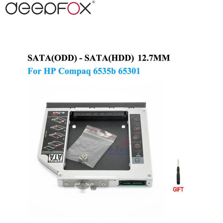 [Visit to Buy] 2nd hdd caddy SATA to SATA 12.7mm exchange DVD driver for HP Compaq 6535b Compaq 6730b, 6730s Notebook PC #Advertisement