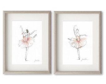 Satz 2 Drucke, Ballerina Kunst, rosa Ballerina, Aquarell Ballett, Ballett Zeichnung, rosa Tutu, Ballett-Kunst, Malerei Ballett, Ballerina Bild