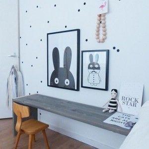 Минимализм в дизайне рабочего пространства для ребенка.