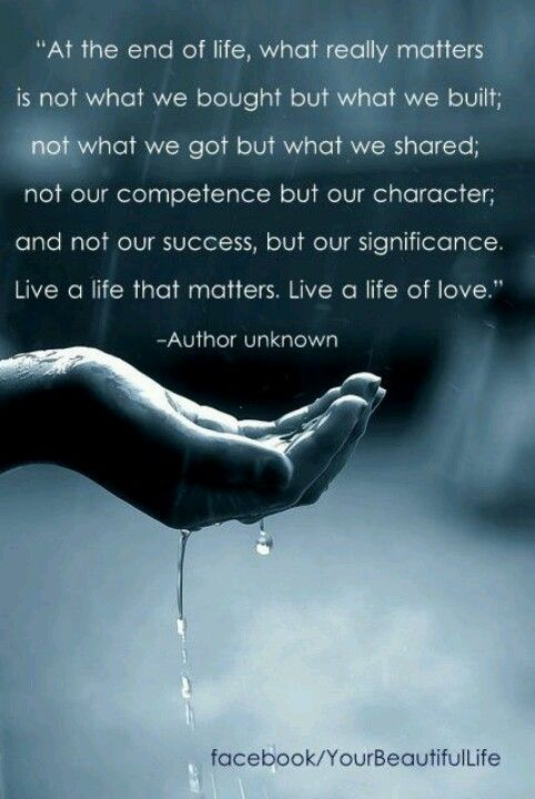 live a life of love......