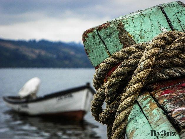 Caleta de pescadores en la costanera de Castro, Chiloé