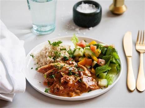 En lyxig och krämig vegetarisk version av den klassiska stroganoffen.  Recept: Mari Bergman  Foto: Susanna Livijn Wexell