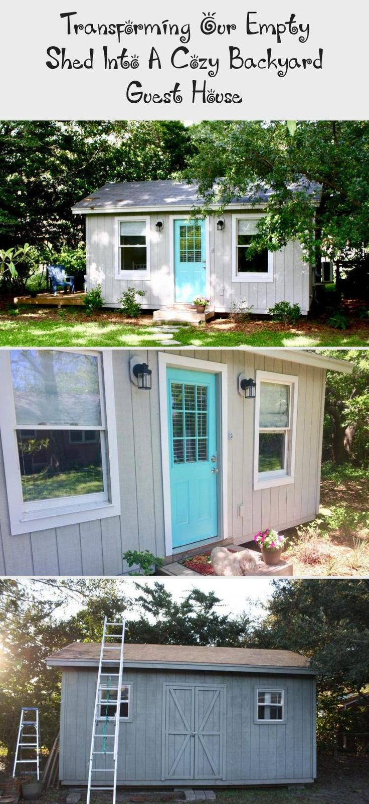 Transforming our Empty Shed into a Cozy Backyard Guest ...