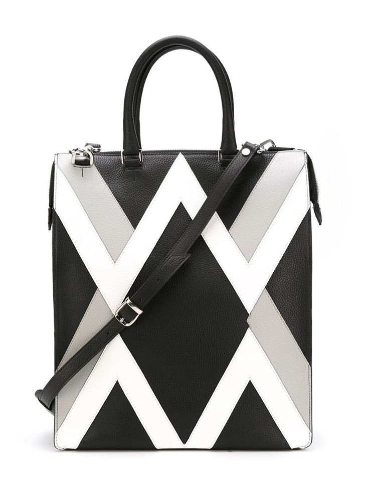 Shop Les Hommes geometric panel tote bag in Elite from the world's best independent boutiques at farfetch.com. Shop 300 boutiques at one address.