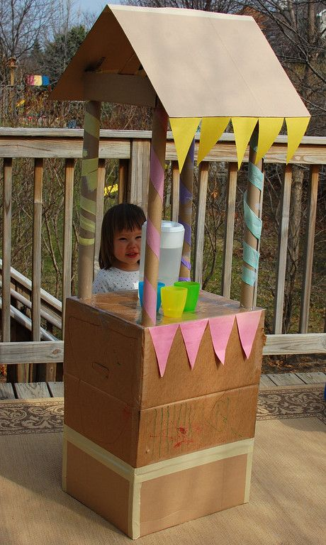 Lemonade stand! I think this is what we are making with the big pile of boxes we have in our garage.