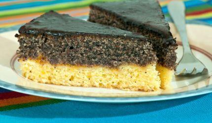 Makový koláč s tvarohom