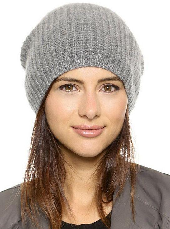 Light Grey Knit Dome Hat 10.67