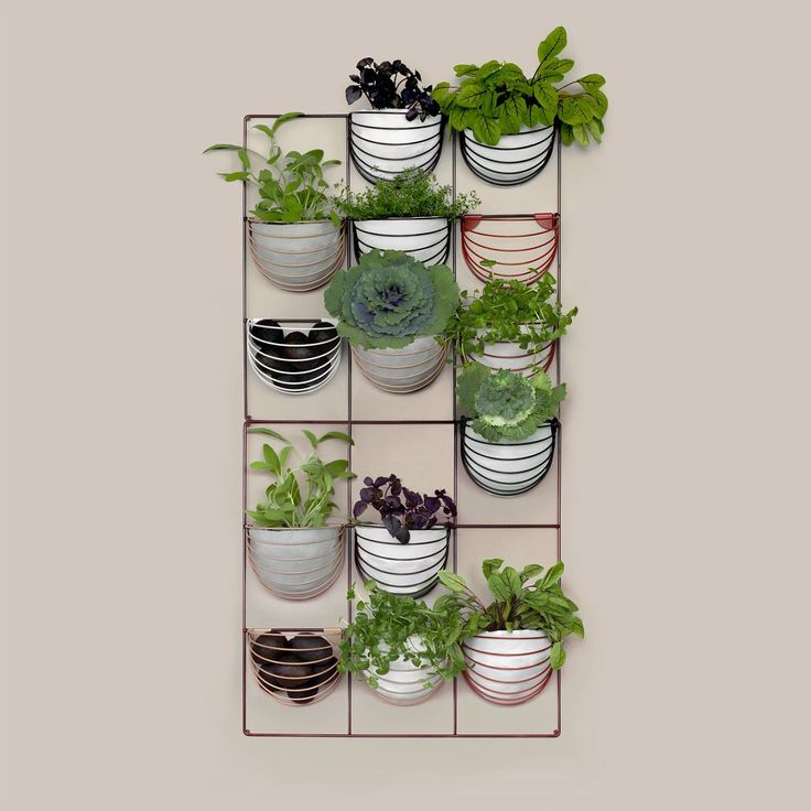 Wallment wire grid herb wall | Scandinavian Style | Nordic Design | vertical garden