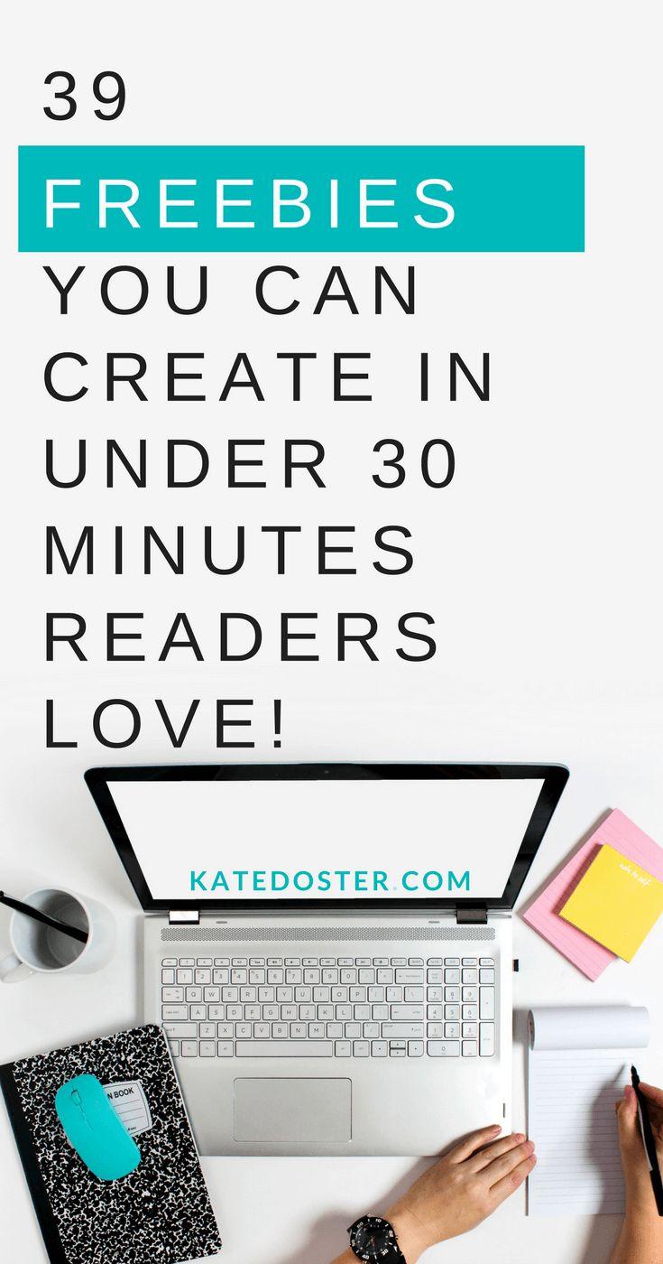 39 ideas for freebies to grow your email list. How to grow your email list with freebies, content upgrade ideas #listbuildingtip #listbuidlingideas #contentgrades #contentupgradeideas